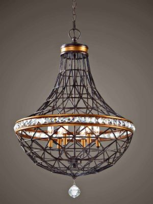 Cestino 6 Light Geometric Pendant by Uttermost 2 1