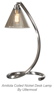 Amitola Coiled Nickel Lamp by Uttermost
