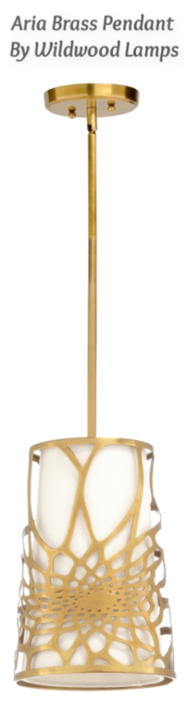 Aria Brass Pendant by Wildwood Lamps