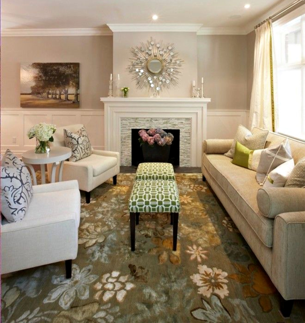 Contemporary Living Room in Neutrals