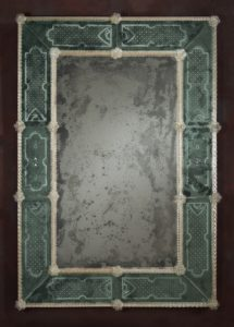 Gritti Antiqued Glass Wall Mirror