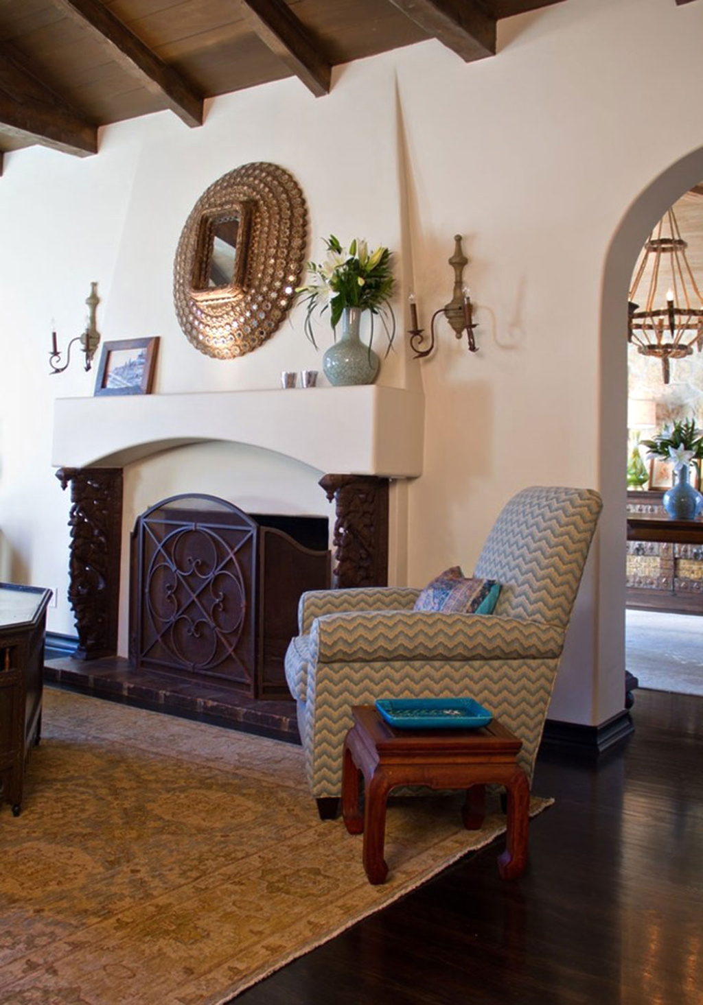 Rustic Living Room with Southwestern Design