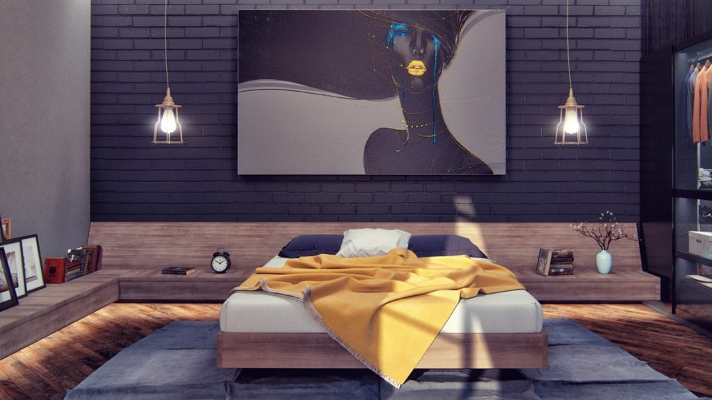 dark-bedroom-Promote Calm That Helps With Sleep