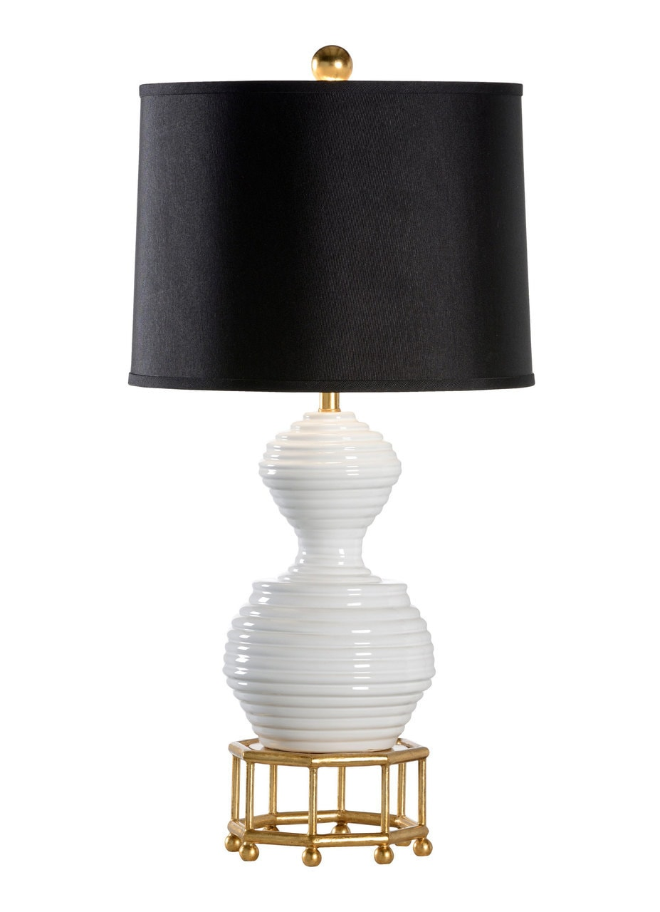 Bee Skep White Ceramic Table Lamp By Wildwood Lamps 30