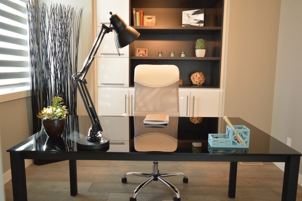A clean, properly lit home office will help us concentrate since lighting in our home affects our emotions
