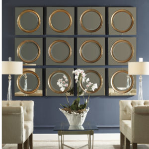 Unusual uttermost mirrors for living room with tufted sofa and glass uttermost lamp suitable with large uttermost wall mirror from uttermost furniture