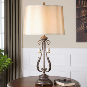 Cassia Oil Rubbed Bronze Table Lamp by Uttermost 26145