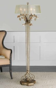 Alenya Gold Floor Lamp by Uttermost28412 1