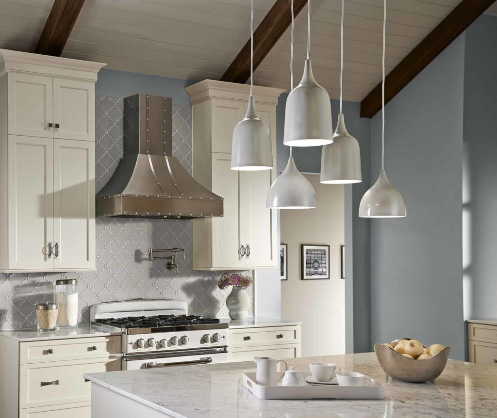 Eclectic Kitchen dutch mini pendants