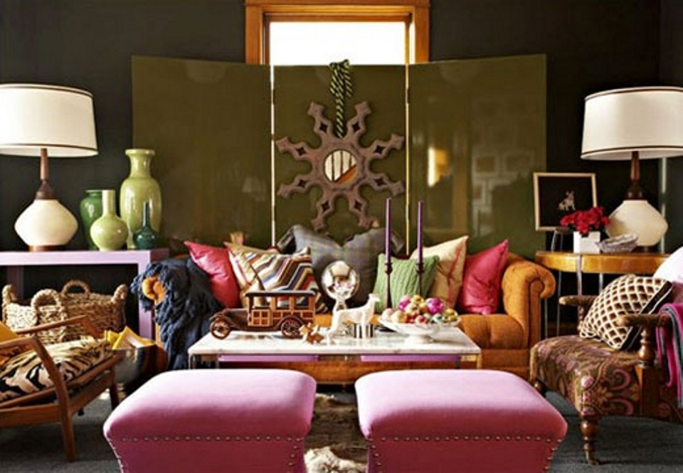 Eclectic living room design featured