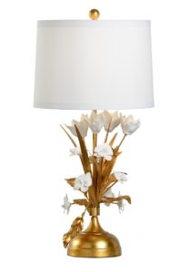 French Flower Table Lamp