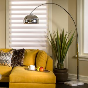 Penbrook Silver Arc Floor Lamp by Dimond