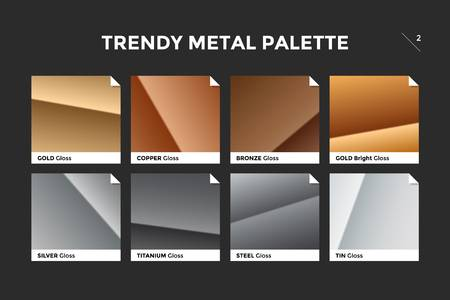 gold copper bronze and silver gradient template