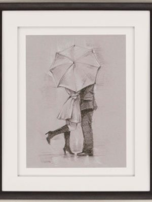 rainy day rendezvous iii framed wall art