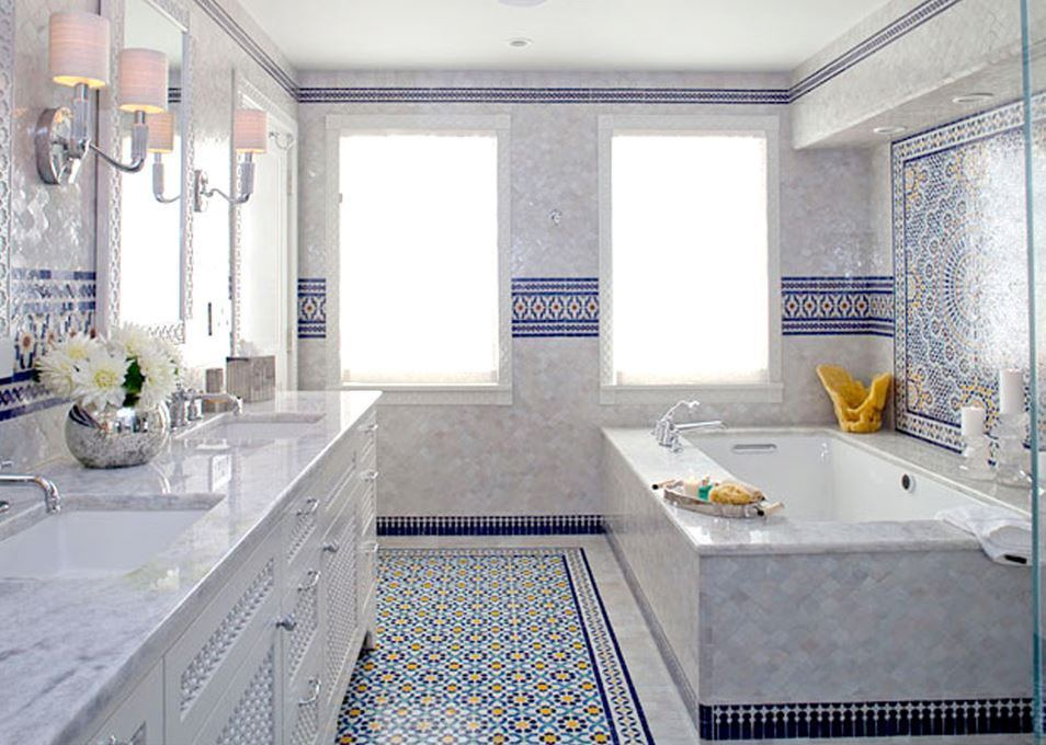 Bathroom Moroccan Mosaic Tile
