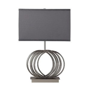 Ekersall Chrome Table Lamp by Dimond