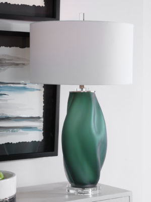 Esmeralda Green Glass Table Lamp_U-28278