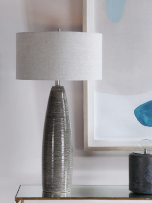 Cosmo Charcoal Table Lamp_U-28280