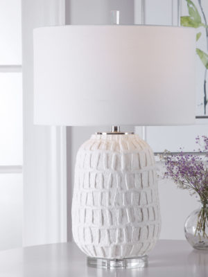 Caelina Textured White Table Lamp_U-28283-1