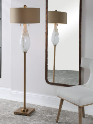 Cardoni White Glass Floor Lamp_U-28293-1