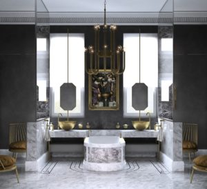 Luxury twin vanity bathroom