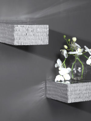 Jessamine Silver Wall Shelves