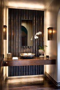 powder room statement wall