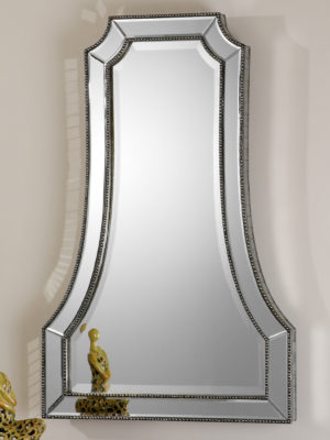 Cattaneo Silver Beaded Mirror_U-08077