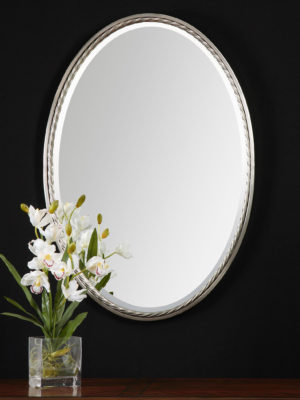 Casalina Nickel Oval Mirror_U-01115