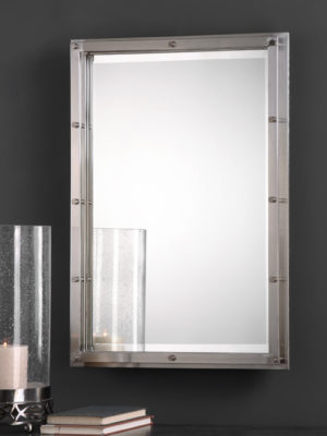 Manning Brushed Nickel Mirror_U-09106