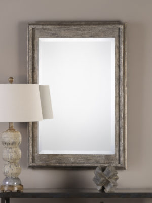 Allegan Antiqued Silver Mirror_U-09116