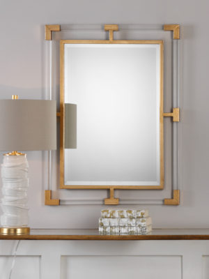 Balkan Modern Gold Wall Mirror_U-09124
