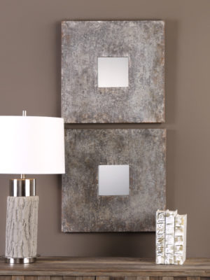Altha Burnished Square Mirrors S/2_U-09208