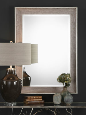 Corrado Textured Gray Mirror_U-09257