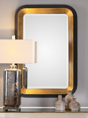 Niva Metallic Gold Wall Mirror_U-09301