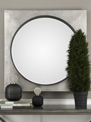 Solomon Metallic Silver Mirror_U-09316
