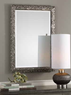 Evelina Silver Leaves Mirror_U-09359