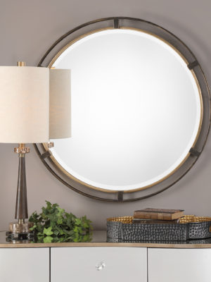 Carrizo Bronze Round Mirror_U-09332