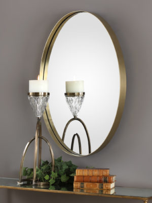 Pursley Brass Oval Mirror_U-09353