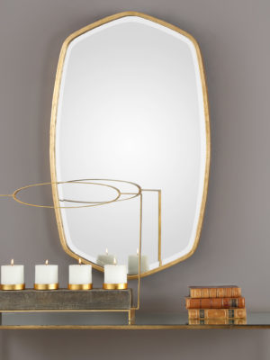 Duronia Antiqued Gold Mirror_U-09382