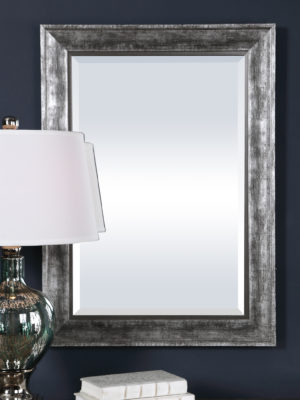 Affton Burnished Silver Mirror_U-09398