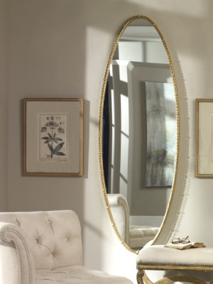 Hadea Gold Oval Mirror_U-09402