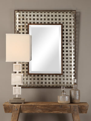 Fabelle Galvanized Metal Mirror_U-09428