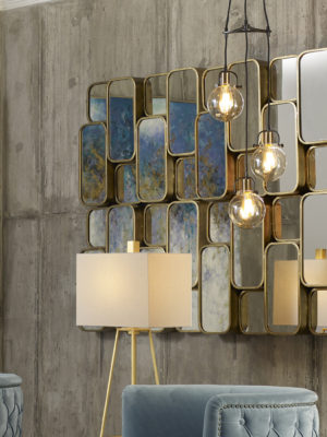 Canute Modern Gold Mirror_U-09437