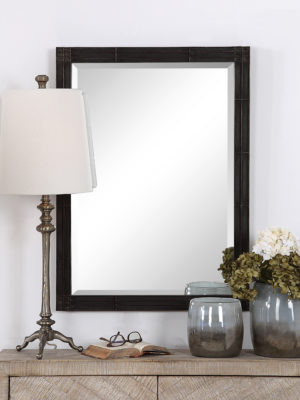 Gower Aged Black Vanity Mirror_U-09485