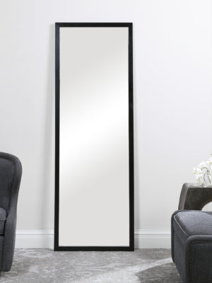 Avri Oversized Dark Wood Mirror_U-09608
