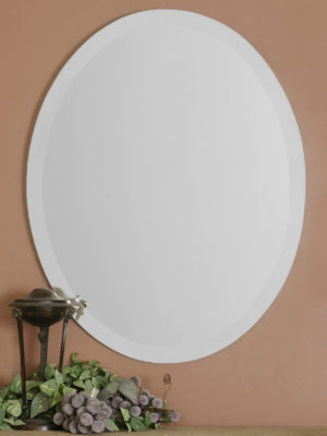 Frameless Large Oval Mirror_U-19590 B