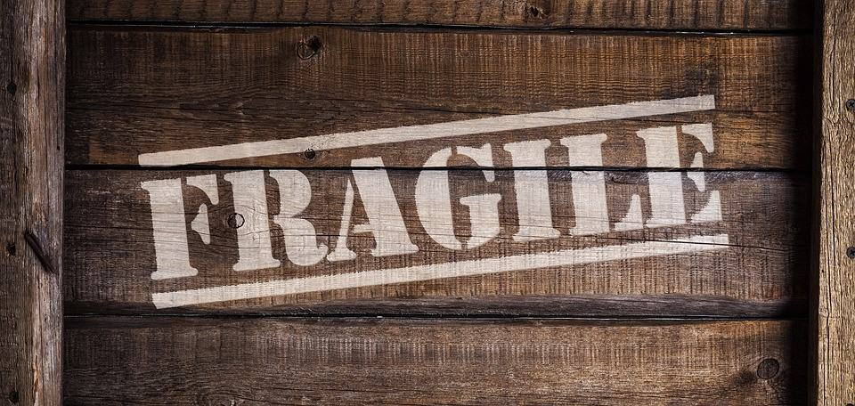 A box with the word fragile written on it