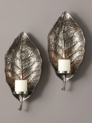 Zelkova Leaf Wall Sconces S/2_U-04138