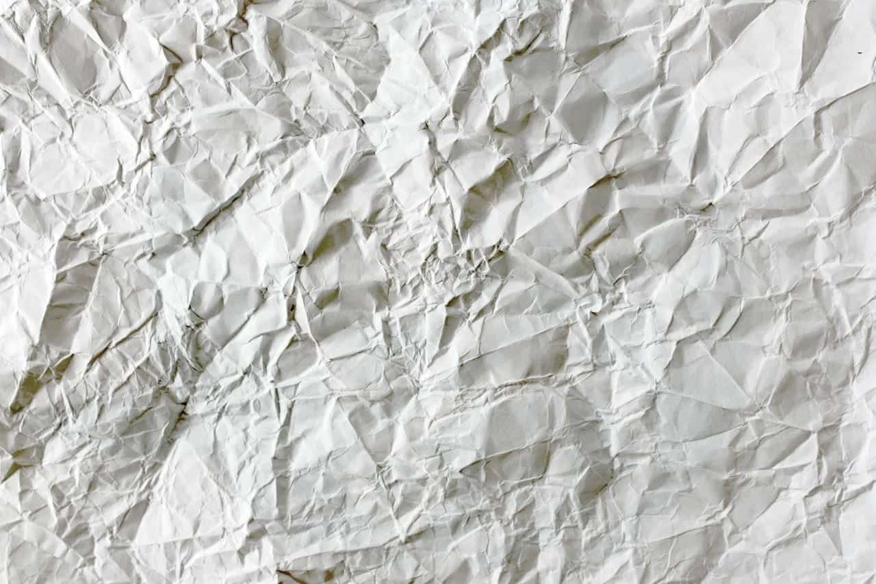 crumpled white packing paperC